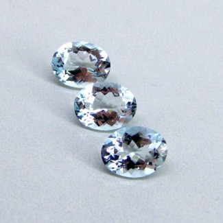 5.5 Cts. Aquamarine 9x7mm Oval Shape Gemstone Parcel (3 Pcs.)