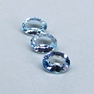 4.5 Cts. Aquamarine 9x7mm Oval Shape Gemstone Parcel (3 Pcs.)