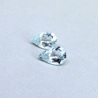 2.54 Cts. Aquamarine 10x6.5mm Pear Shape Gemstone Parcel (2 Pcs.)