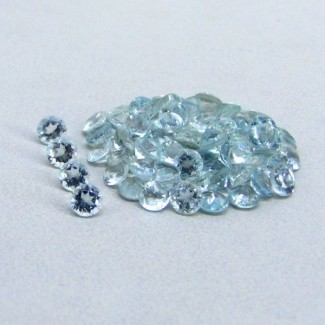 7.00 Cts. Aquamarine 3mm Round Shape Gemstone Parcel (69 Pcs.)