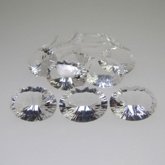 221.55 Cts. Crystal Quartz 20x15mm Oval Shape Gemstone Parcel (15 Pcs.)