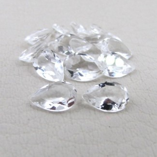 9.85 Cts. Crystal Quartz 8x5mm Pear Shape Gemstone Parcel (15 Pcs.)