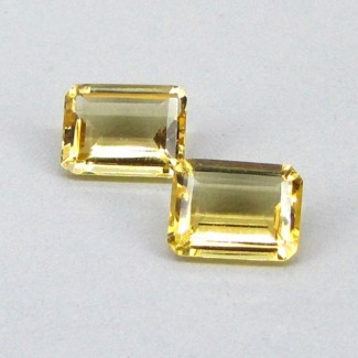 3.61 Cts. Yellow Beryl 9x7mm Octagon Shape Gemstone Parcel (2 Pcs.)