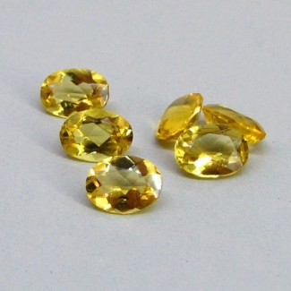 4.14 Cts. Yellow Beryl 7x5mm Oval Shape Gemstone Parcel (6 Pcs.)