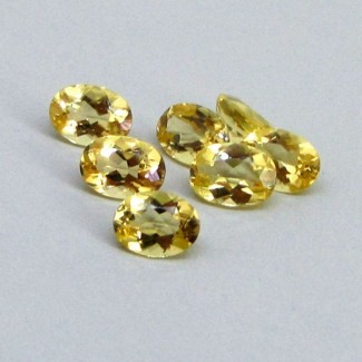 5.12 Cts. Yellow Beryl 7x5mm Oval Shape Gemstone Parcel (7 Pcs.)