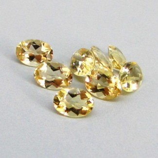 5.21 Cts. Yellow Beryl 7x5mm Oval Shape Gemstone Parcel (8 Pcs.)