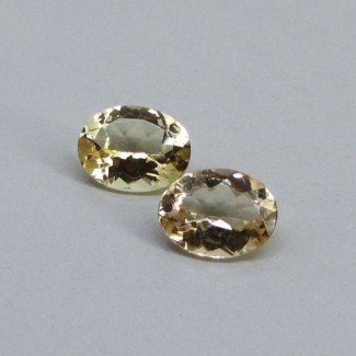 3.03 Cts. Yellow Beryl 9x7mm Oval Shape Gemstone Parcel (2 Pcs.)