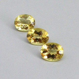 9.32 Cts. Yellow Beryl 11x9mm Oval Shape Gemstone Parcel (3 Pcs.)