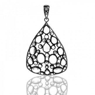 Synthetic Moissanite 925 Sterling Silver Pendant