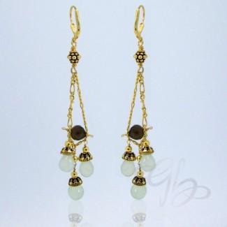 Aqua Chalcedony 925 Sterling Silver Earrings