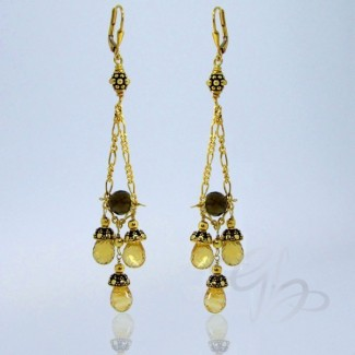 Citrine 925 Sterling Silver Earrings