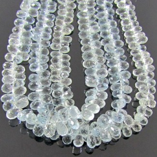 Aquamarine 6-7mm Drops Shape Briolette Strand