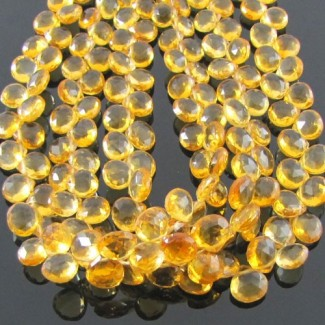 Citrine 6-7mm Heart Shape Briolette Strand
