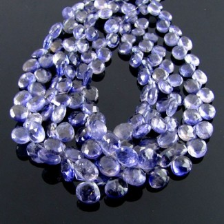 Iolite 6-7mm Heart Shape Briolette Strand