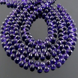 African Amethyst 6-7mm Drops Shape Briolette Strand