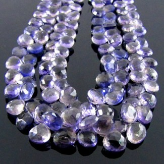 Iolite 8-9mm Heart Shape Briolette Strand