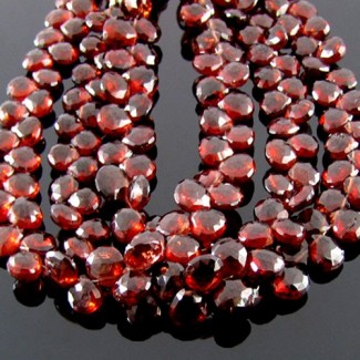 Garnet 6-7mm Heart Shape Briolette Strand