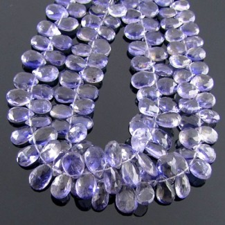 Iolite 10-12mm Pear Shape Briolette Strand