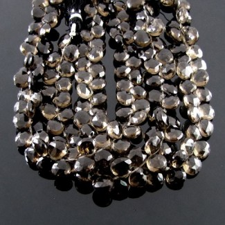 Smoky Quartz 8-9mm Heart Shape Briolette Strand