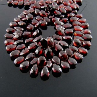 Garnet 10-12mm Pear Shape Briolette Strand