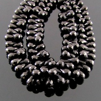 Melanite Garnet 8-9mm Drops Shape Briolette Strand