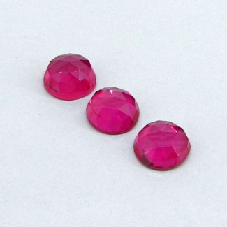 21.35 Cts. Lab Ruby 11mm Round Shape Cabochon Parcel (3 Pcs.)