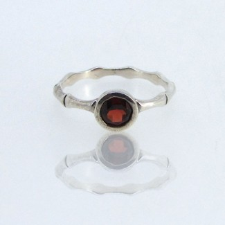 Garnet CZ 925 Sterling Silver Ring
