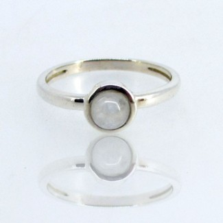 Rainbow Moonstone CZ 925 Sterling Silver Ring