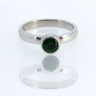 Chrome Diopside CZ 925 Sterling Silver Ring