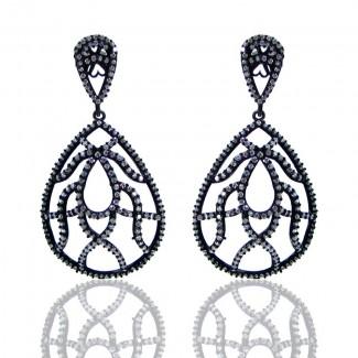 Diamond White CZ 925 Sterling Silver Earrings