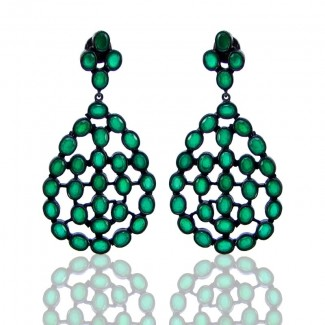 Hydro Emerald 925 Sterling Silver Earrings