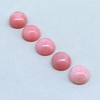 17 Cts. Pink Opal 10mm Round Shape Cabochon Parcel (5 Pcs.)