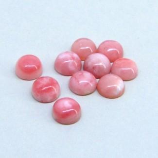 23.10 Cts. Pink Opal 9mm Round Shape Cabochon Parcel (10 Pcs.)