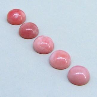 19.85 Cts. Pink Opal 11mm Round Shape Cabochon Parcel (5 Pcs.)