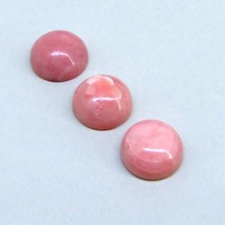 15.10 Cts. Pink Opal 12mm Round Shape Cabochon Parcel (3 Pcs.)