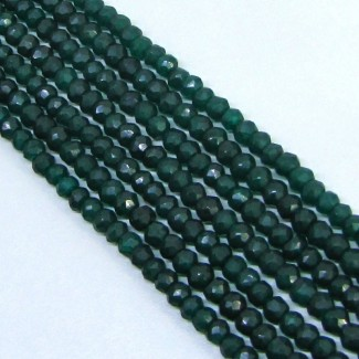 Dyed Emerald (Ropada) 5-5.5mm Hand Cut Rondelle Shape Beads Strand