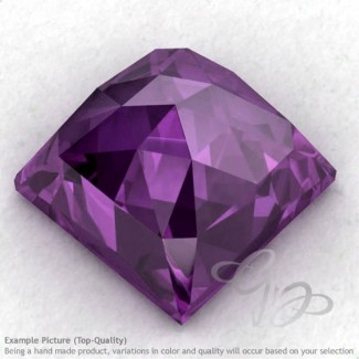African Amethyst Square Shape Calibrated Cabochons