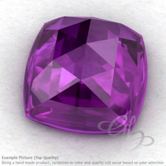 African Amethyst Square Cushion Shape Calibrated Cabochons