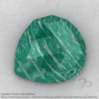 Amazonite Heart Shape Calibrated Cabochons
