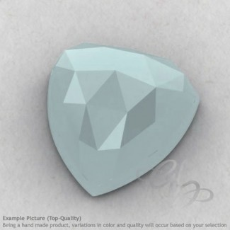 Aqua Chalcedony Trillion Shape Calibrated Cabochons