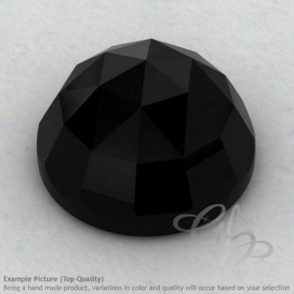 Black Onyx Round Shape Calibrated Cabochons