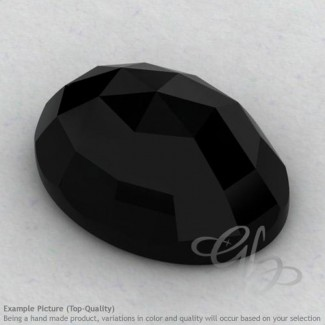 Black Onyx Oval Shape Calibrated Cabochons