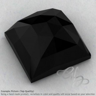 Black Onyx Square Shape Calibrated Cabochons