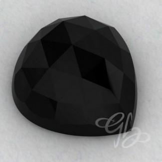 Black Onyx Heart Shape Calibrated Cabochons