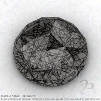 Black Rutile Round Shape Calibrated Cabochons