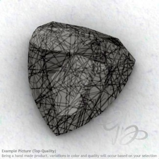 Black Rutile Trillion Shape Calibrated Cabochons
