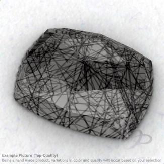 Black Rutile Cushion Shape Calibrated Cabochons