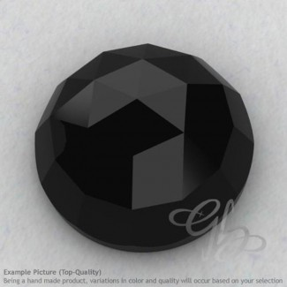 Black Spinel Round Shape Calibrated Cabochons