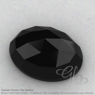 Black Spinel Oval Shape Calibrated Cabochons