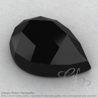 Black Spinel Pear Shape Calibrated Cabochons